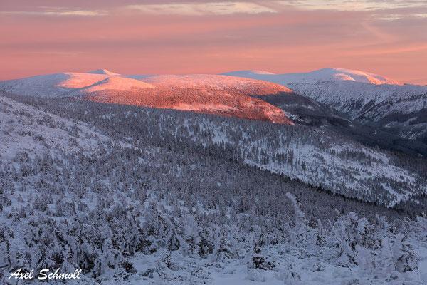 Abendblick auf die Schneekoppe