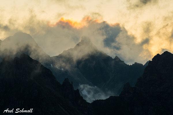 Alpenpanorama bei der Hatz zum Steinbockwischer