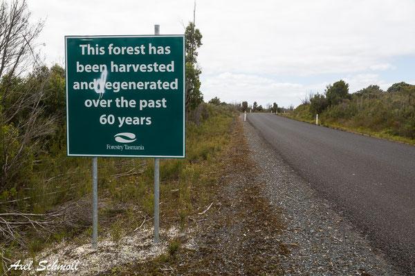 "Degeneration statt Regenaration - ""Sustainable Timber Tasmania"""