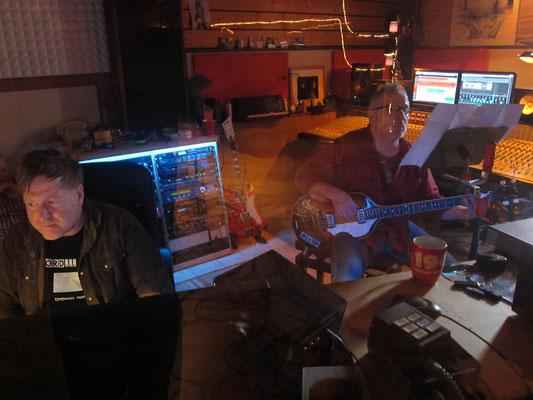Nico Brettschneider Band, Tonstudio Bieber (Offenbach/Main), Feb. 2014 - Oli & Zeimy