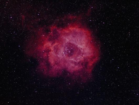 NGC2239, 27.12.16, Gemany, Lembeck, FSQ85+Reducer Q, ASI1600MMC, 32x1min Ha, 13x1min O3