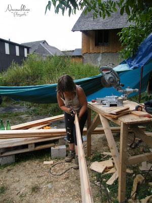 07/2009 - C'est parti pour le bardage extérieur en mélèze.