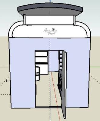 Plans initiaux réalisés sur SketchUp.