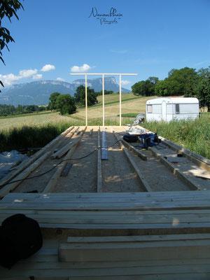 06/2009 - Malgré le changement de terrain, nous avons conservé une superbe vue sur le Granier :)