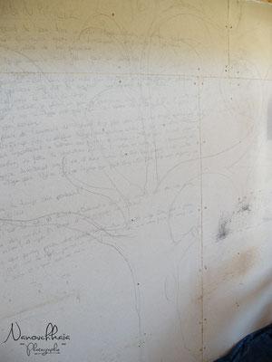 04/2010 - Dessin pour l'enduit terre principal sur les plaques de Fermacell.