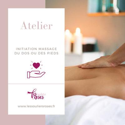 Atelier initiation massage du dos ou des pieds