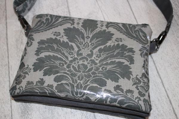 VERFÜGBAR 3er Tasche :)))) aus besch. Baumwolle Au Maison - Design: Victorian Baroque in charcoal -