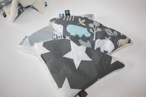 Design/Farbe: Star Giant charcaol VORDERE IM BILD !! - Webband: Sterne grau silber