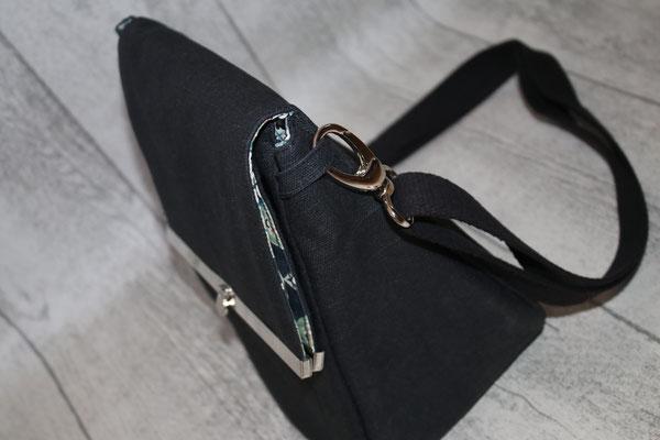Seitanansicht/Tiefe der Tasche