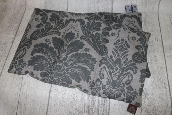 Design/Farbe: Victorian Baroque charcoal - Webband: Fräulein Smilla - beige