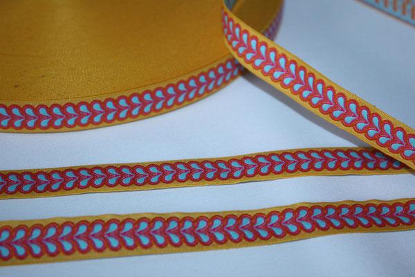 Blätterband - gelb - 15 mm - Design: Franca Tack - Meterware - EUR 2,90/m