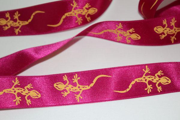 Salamander - grün - KEIN WEBBAND - 100% Polyester - 25 mm breit - EUR 1,60/m
