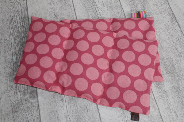 "Design/Farbe: Super dots  raspberry / peachy pink - ""Wellen""-Naht - Webband: Stripes sweets"