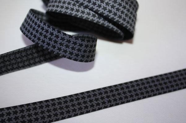 MINI staars schwarz-grau - Design: Farbenmix - 15 mm breit - EUR 1,60/m
