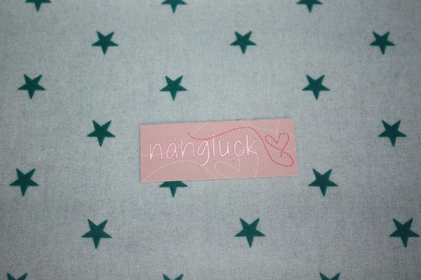 besch. Baumwolle (Aspegren) mit einer glatten, MATTEN PVC-Beschichtung - Sterne mint / grün
