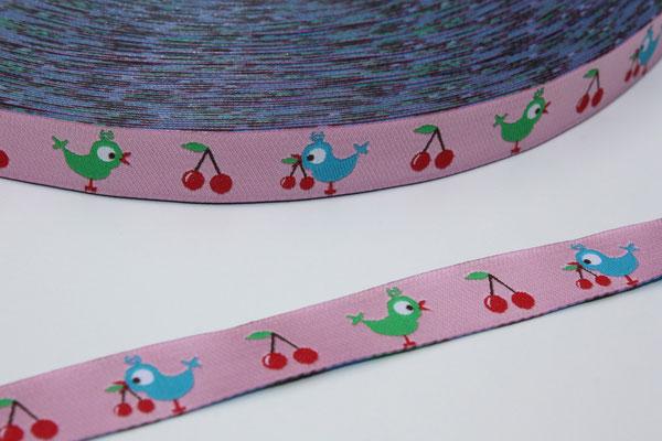 Birdie - rosagrundig - Design: paulapü 2011 - 12 mm breit - EUR 1,30/m