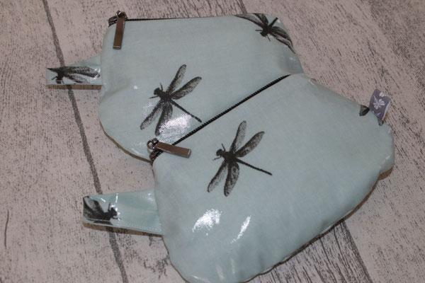 div. kl. Täschchen - besch. Baumwolle Dragonfly - turquoise
