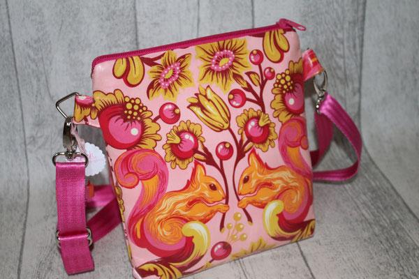 """NOCH ZU HABEN: eine """"Mini"""" aus einer besch. Baumwolle mit Eichörnchen in rosa, orange, pink :) Maße ca. 22 cm hoch x 18/20 cm breit x 3 cm tief-25"""