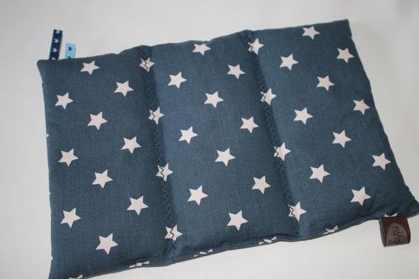 27x17 cm - 3 Kammern je 120 Gramm - Design/Farbe: Star big midnight blue - Zick-Zack-Naht - Webband: Sternchen blau/dunkelblau