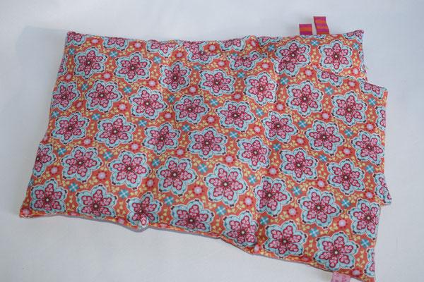 Design/Farbe: Merle Bumen orange - Webband: Ringel pink / orange