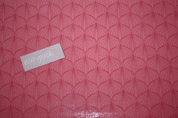 besch. Baumwolle Au Maison - ALLI - raspberry / peachy pink  - METERWARE