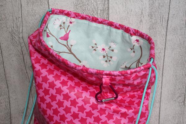 .. 2 Seite aus Kirschblüte bleu/pink
