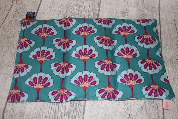 30x18 cm - 3 Kammern je 130 Gramm - Design/Farbe: HHL - Amore - Allegria - Blumen petrol - Webband