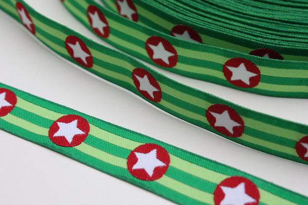 Sterne grün - Design: Franca Tack - 15 mm breit - EUR 2,90/m