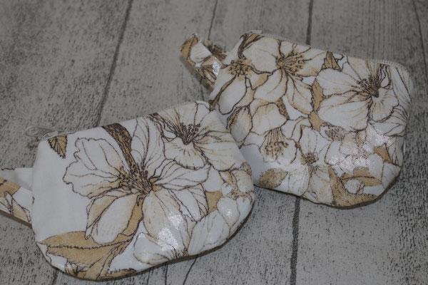 kleine Täschchen - besch. Baumwolle - Bloom it - creme