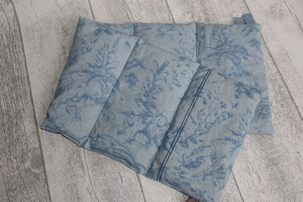Design/Farbe: Fleur blue - Webband: Punkte blau