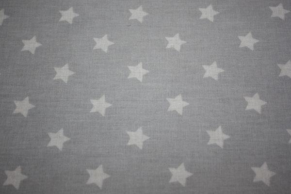 besch. Baumwolle Au Maison: Sterne light grey / hellgrau  AUS ?=
