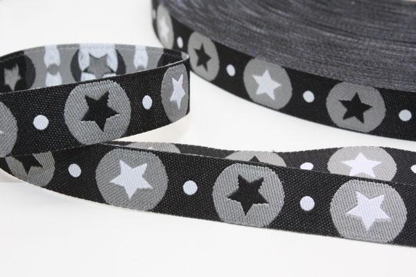 STARdotzz schwarz - Design: paulapü 2014 - 12 mm breit - EUR 1,30/m