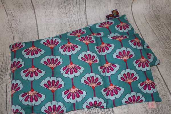 Design/Farbe: Hamburger Liebe AMORE :) Allegria petrol - Webband: Blumen
