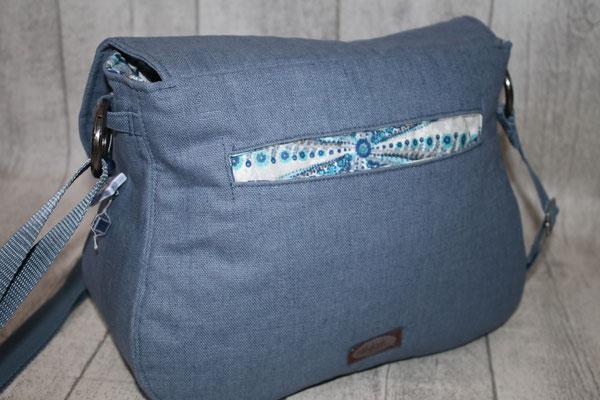 auf der Rückseite der Tasche eine Eingriffs-/Einstecktasche