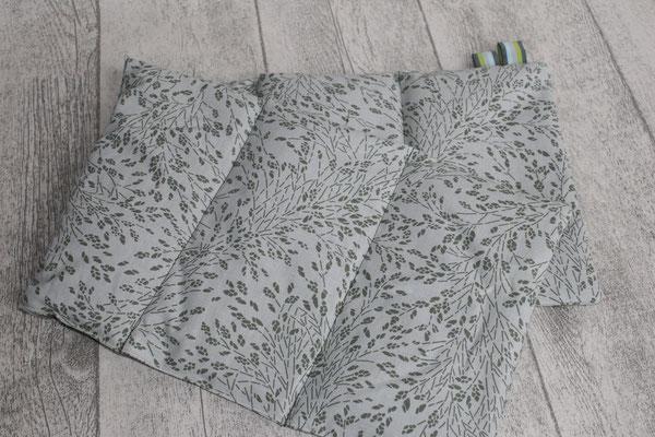 Design/Farbe: Meadows moss - Webband: Stripes grün-Töne