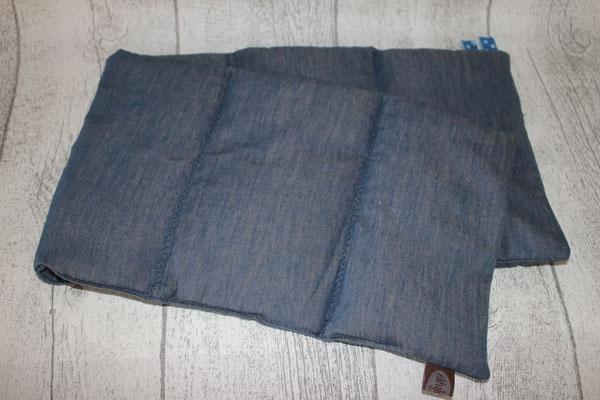 "Design/Farbe: UNI jeansblau - ""Deko""-Naht + Webband: Sternchen jeansblau / blau"