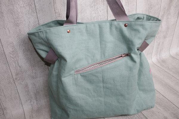 Reißverschluss-Tasche auf einer Außenseite