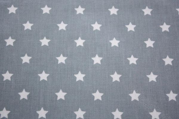 besch. Baumwolle Au Maison - STAR BIG - Sterne dusty blue