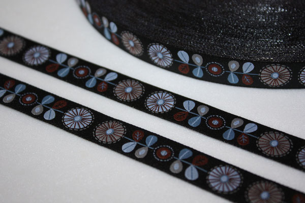 Fräulein SMILLA - schwarz - Design: Steffi Mitzscherling - 15 mm breit - EUR 1,90/m