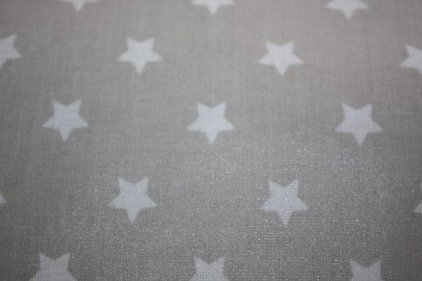 besch. Baumwolle Au Maison: STAR big - Sterne toffee (= beige/grau)