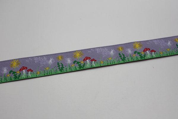 Sommerwiese - flieder - Design: Steffi Mitzscherling - 15 mm breit - EUR 1,90/m