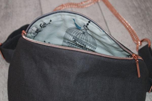 Innen mit Baumwolle - Design: Birdcage verte ausgekleidet