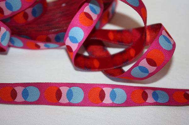 Amore  gelato - Punkte / Kreise - pink - HHL - 15 mm breit - EUR 2,20/m