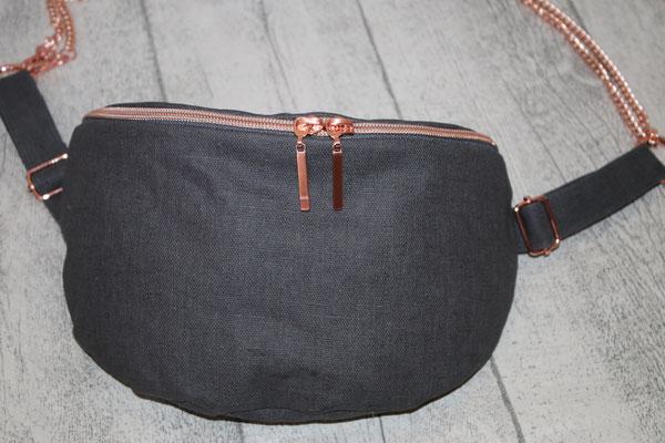 besch. Leinen in grey/dunkelgrau  -35