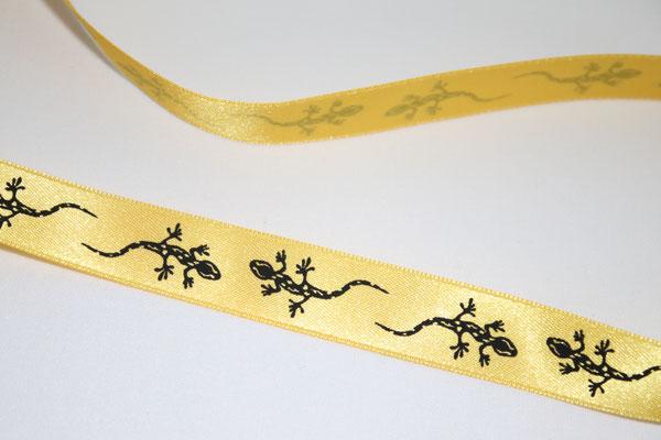 Salamander - gelb / schwarz - KEIN WEBBAND - 100% Polyester - 16 mm breit - EUR 1,40/m