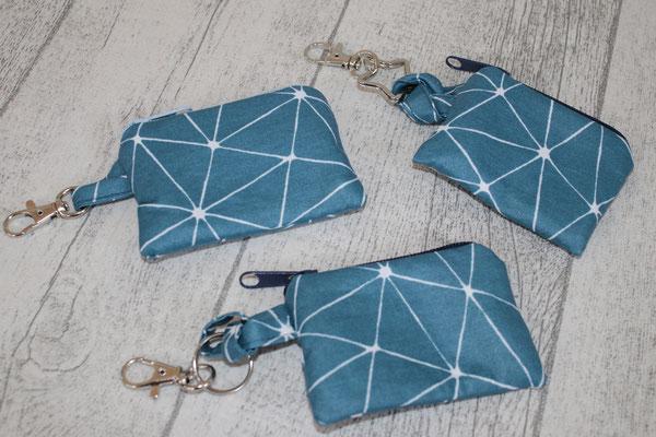 Täschchen - Design: geo-Muster smaragd