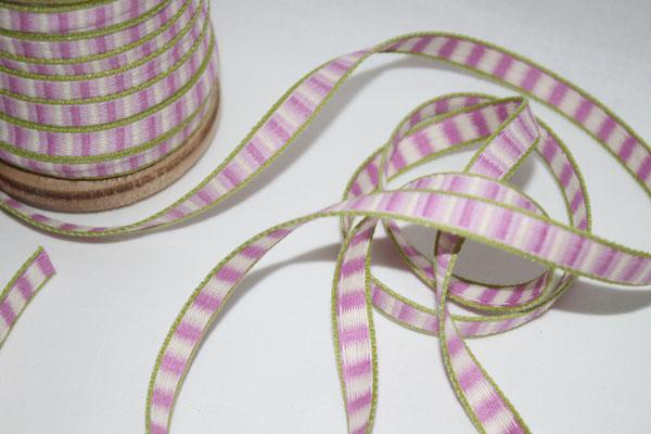 Aspegren - Streifen lila  - 10 mm breit - 20% Polyester & 80% Baumwolle - EUR 1,30/m