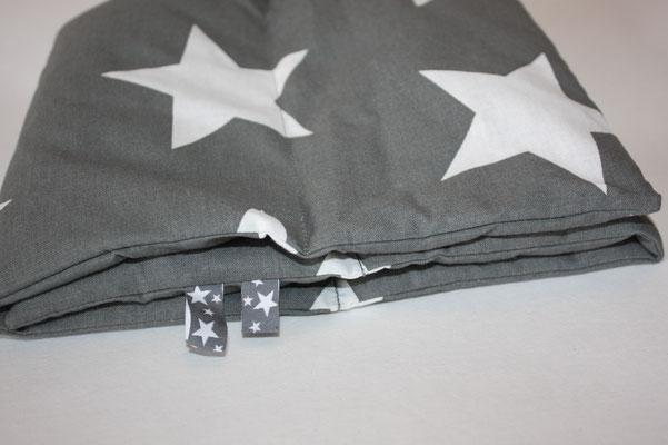 Design/Farbe: Star Giant charcoal - Webband: Sterne grau