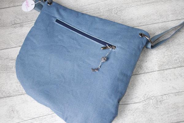 2. Seite aus besch. Leinen in blue