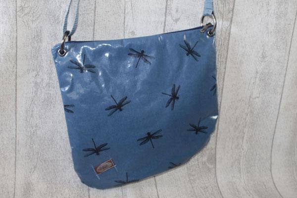 VERFÜGBAR DeLanza -  besch. Baumwolle Dragonfly blue